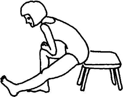Растяжка бедер в положении сидя. Упражнения для позвоночника